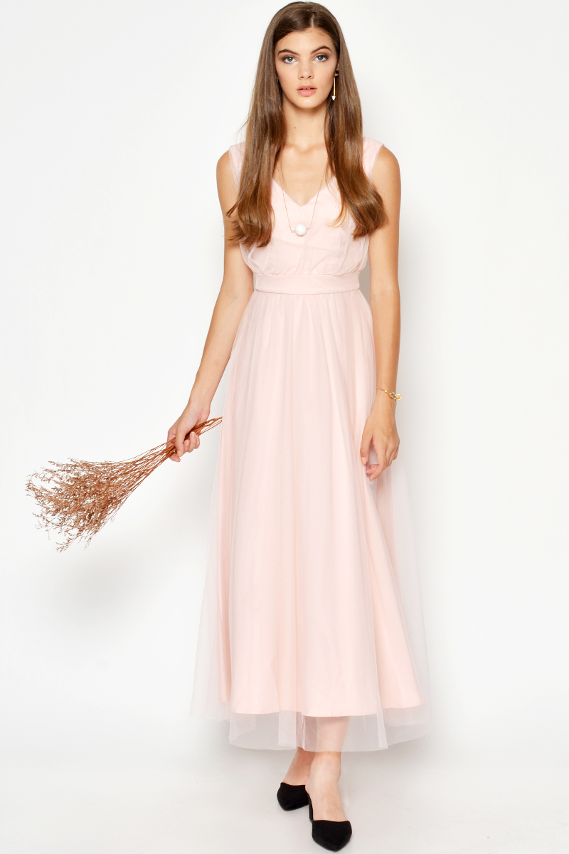 GITHA TULLE MAXI DRESS