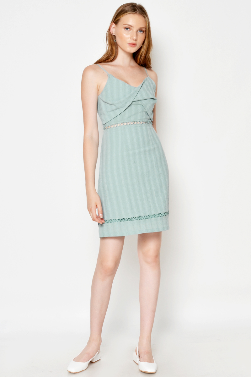 KEZIAH TEXTURED CUT OUT DRESS