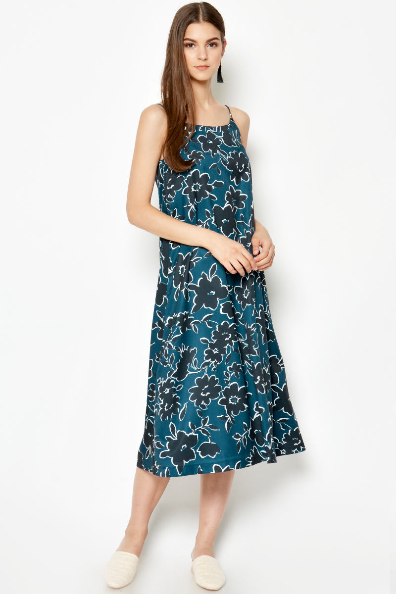 ANIA FLORAL SLIP DRESS