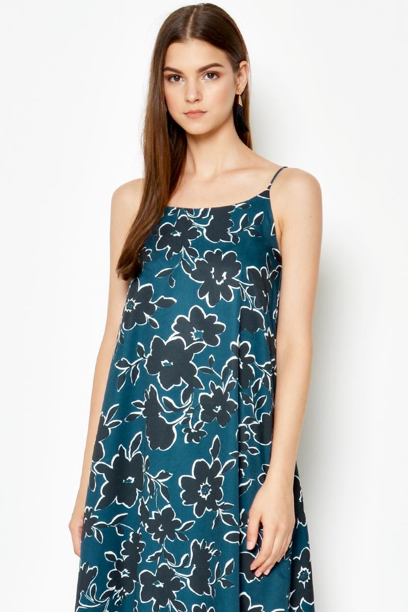 ANIA FLORAL SLIP DRESS