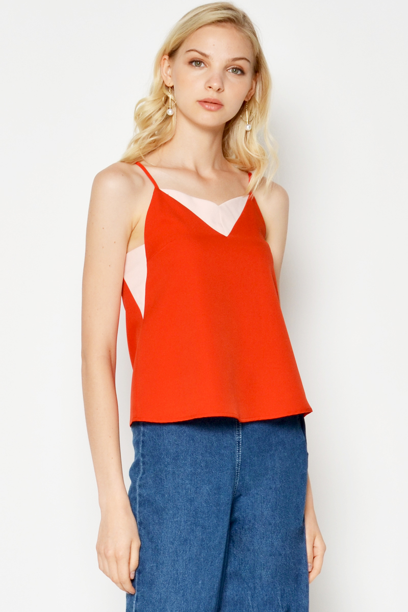 KIORA COLOURBLOCK CAMI TOP