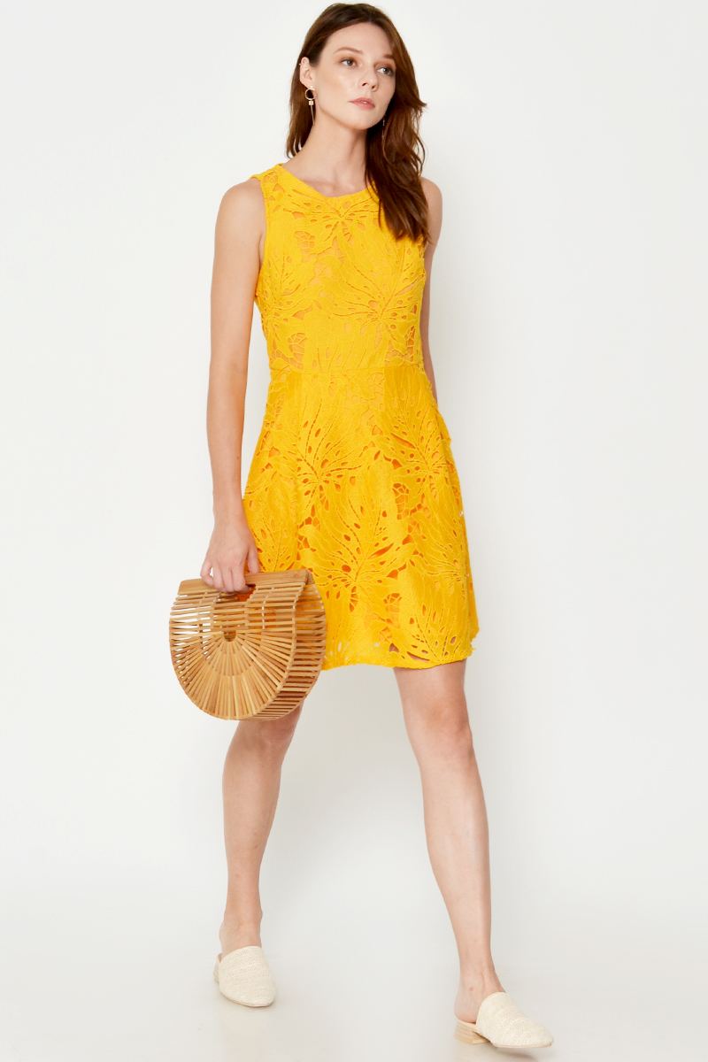 ANDIRA CUTOUT CROCHET DRESS