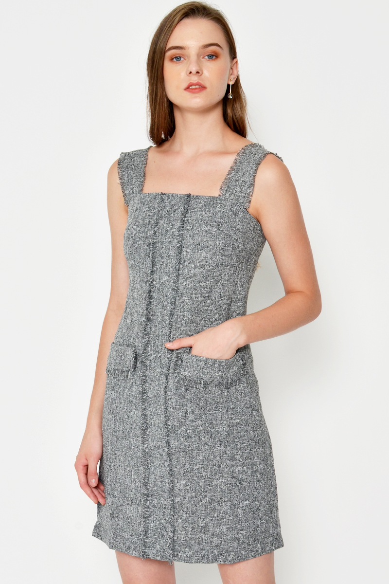 TERI TWEED PINAFORE DRESS