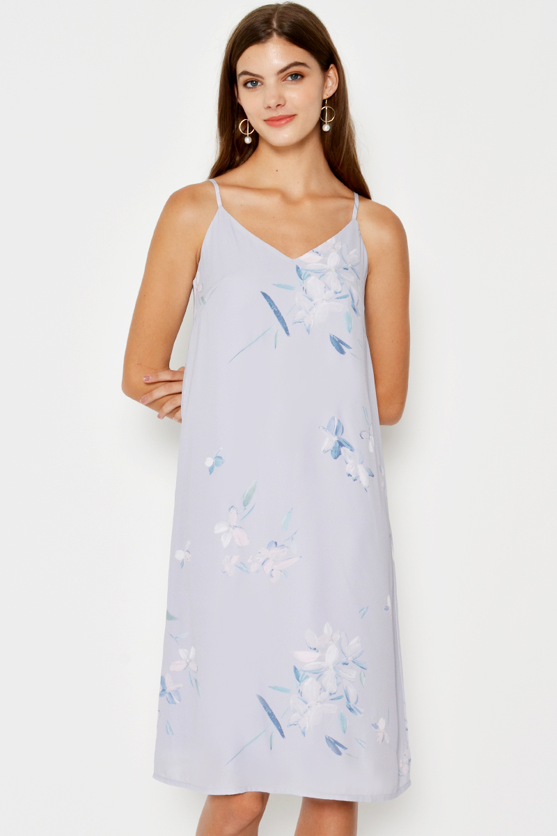 ADALIA FLORAL SLIP DRESS