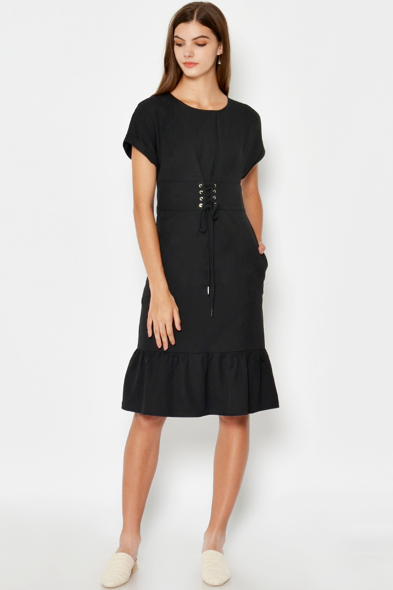 ANTHEA LACE UP DRESS