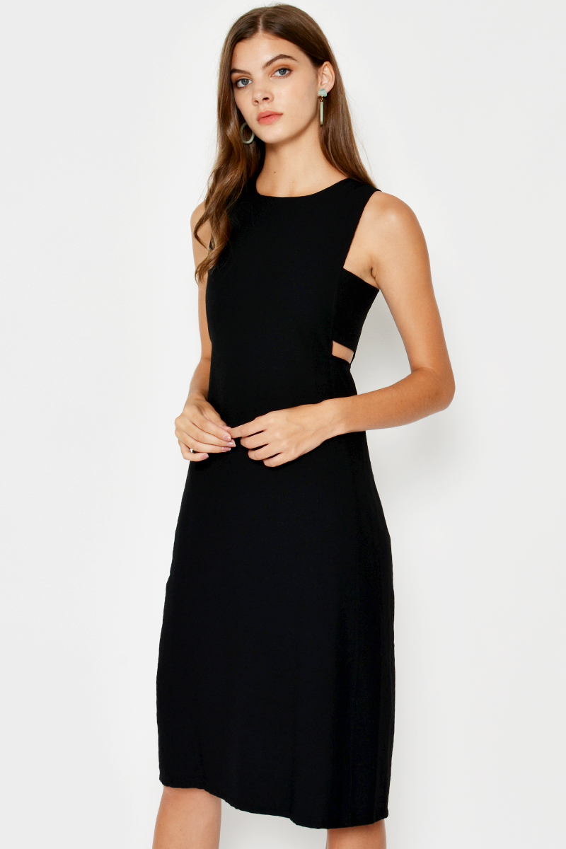 *BACKORDER* ASHER SIDE CUTOUT DRESS