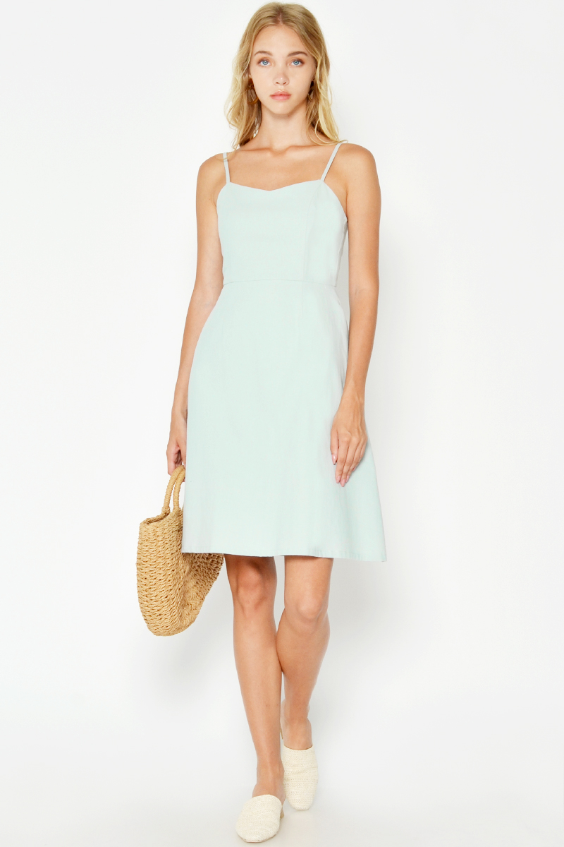 KERIN LINEN FLARE DRESS