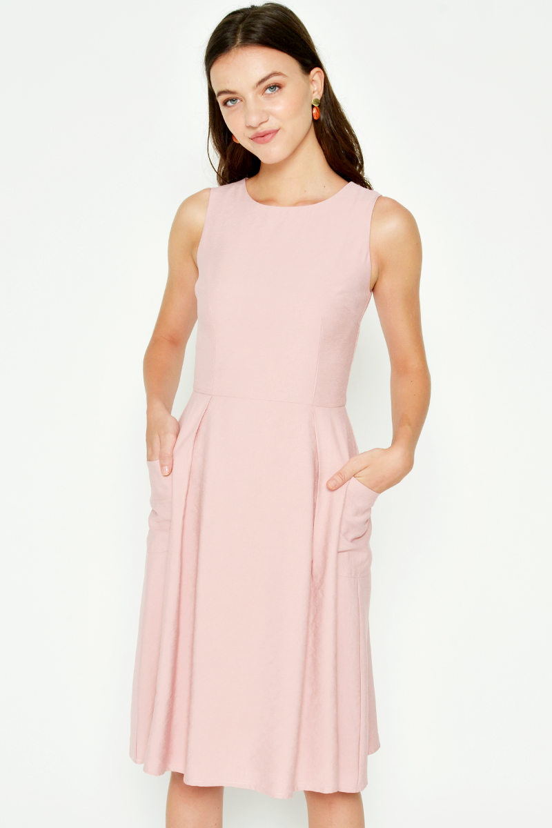 CATHERINE POCKET FLARE DRESS