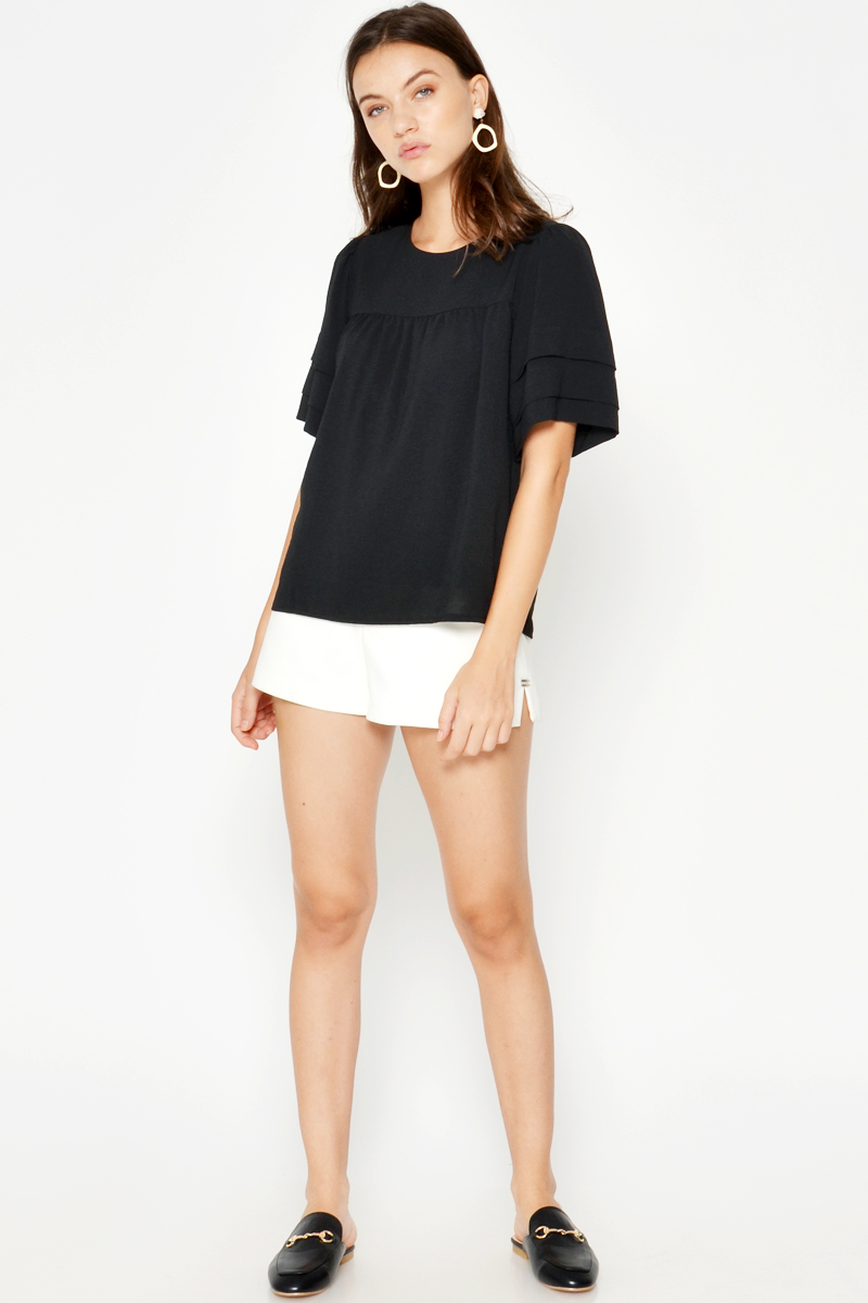 KANYA LAYERED SLEEVE TOP