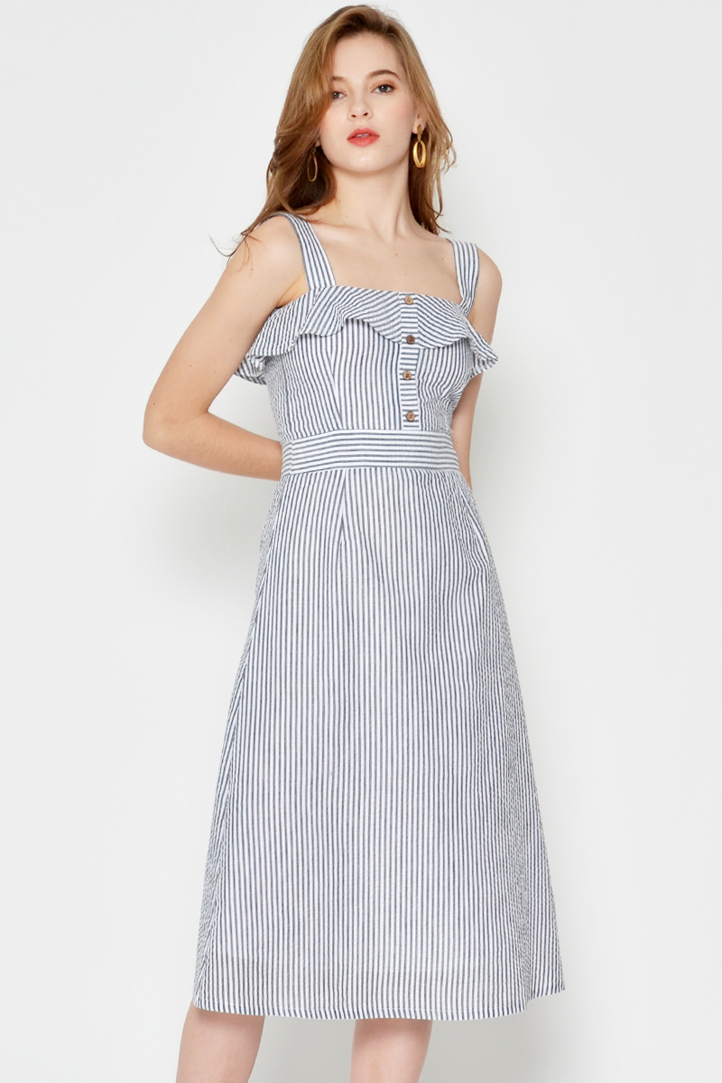 PARISA STRIPE MIDI DRESS