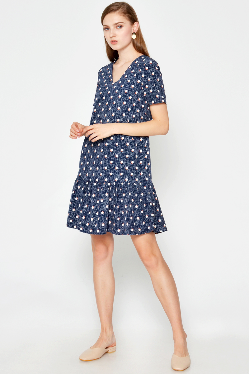 BARRIE POLKADOT DROPWAIST DRESS