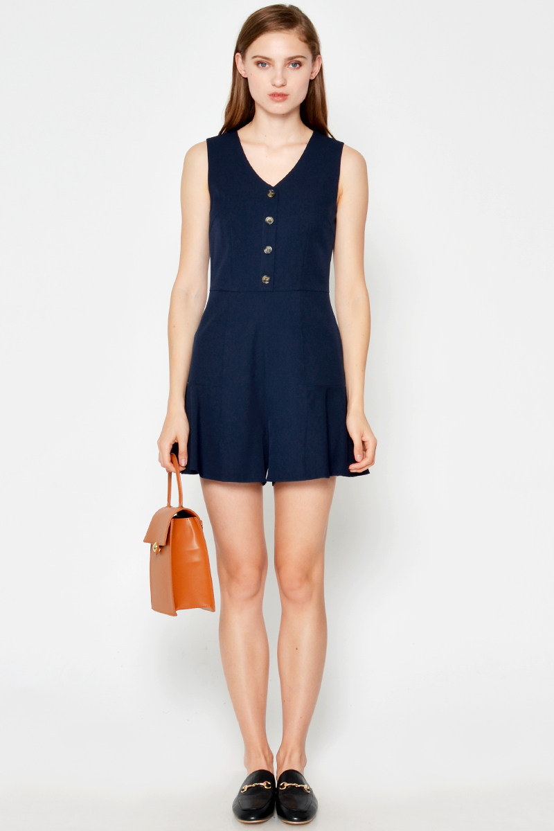 CORA BUTTON PLAYSUIT