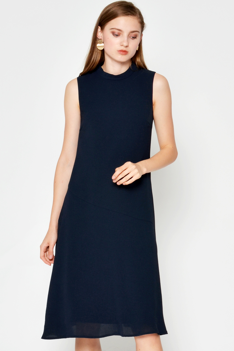 TOBY HIGHNECK MIDI DRESS