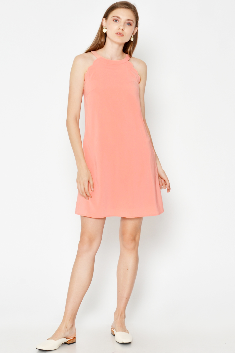 MURA SCALLOP HEM DRESS
