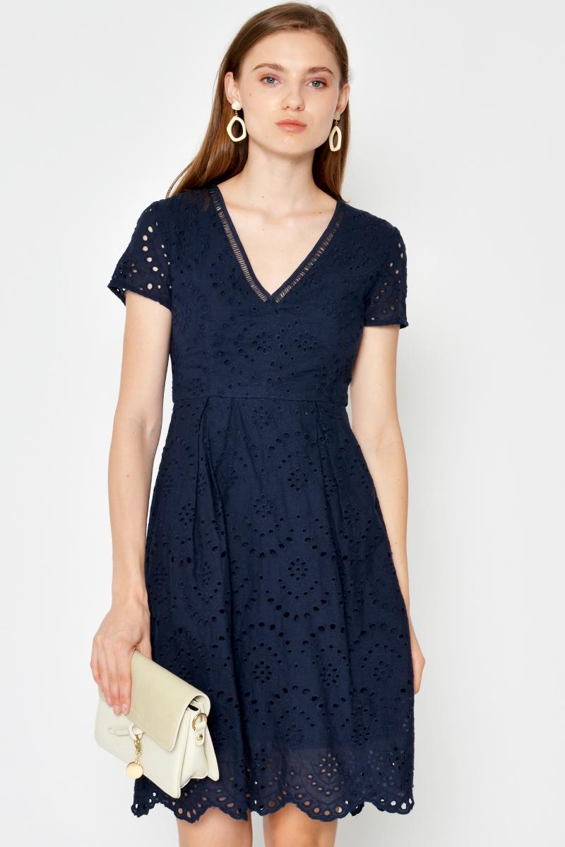 PIPPA EYELET DRESS