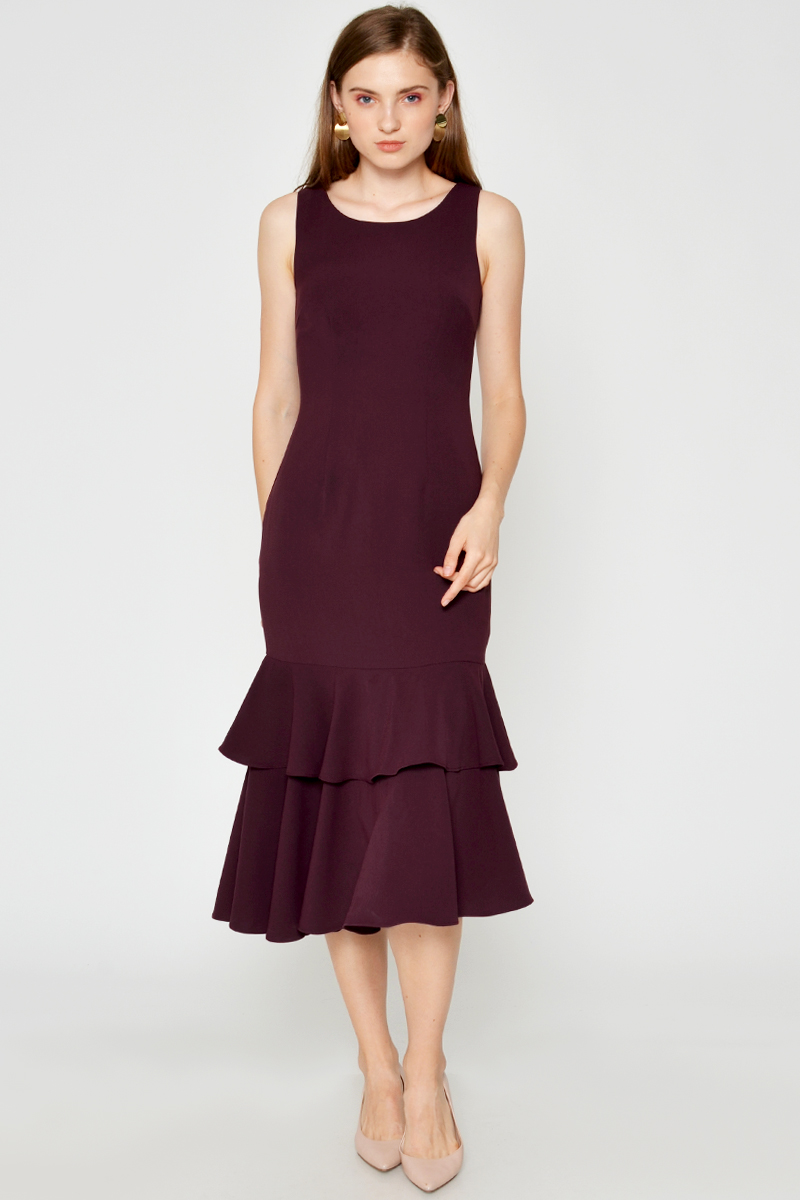 BRINLEY LAYERED MIDI DRESS