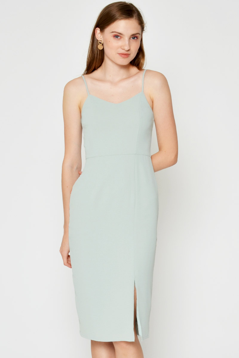 MILLIE SLIT MIDI DRESS