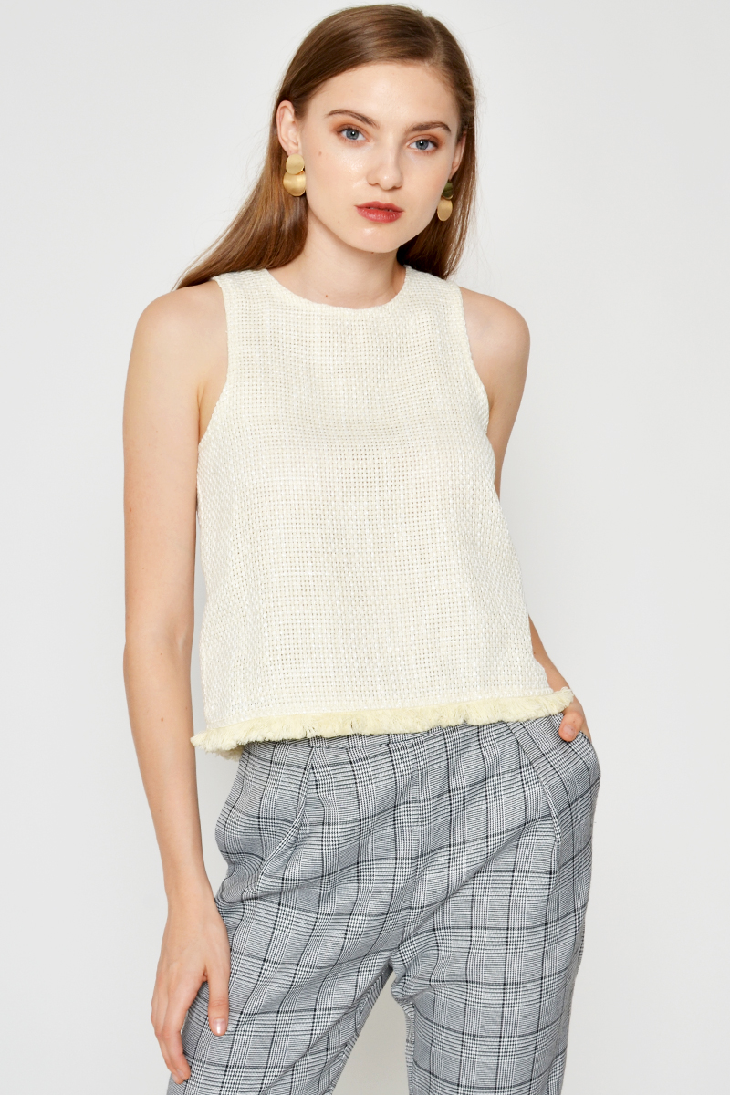 CALIX TWEED TOP