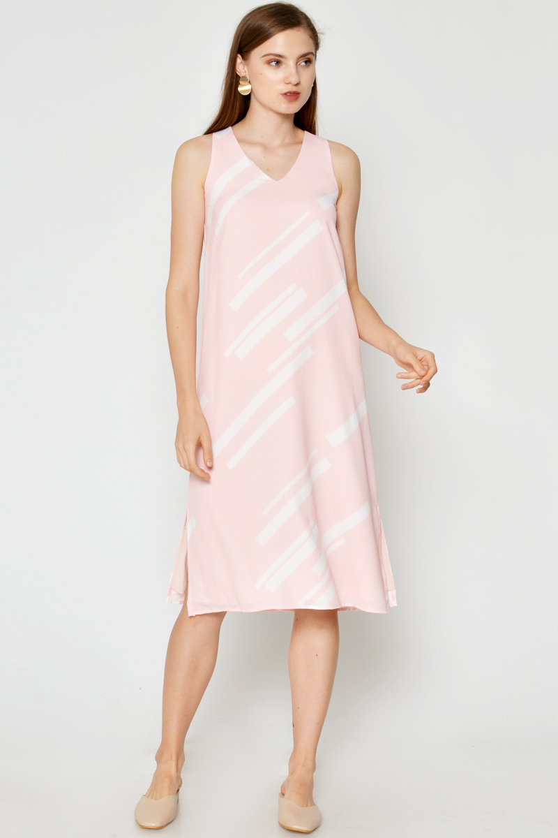 CHARLENA ABSTRACT MIDI DRESS