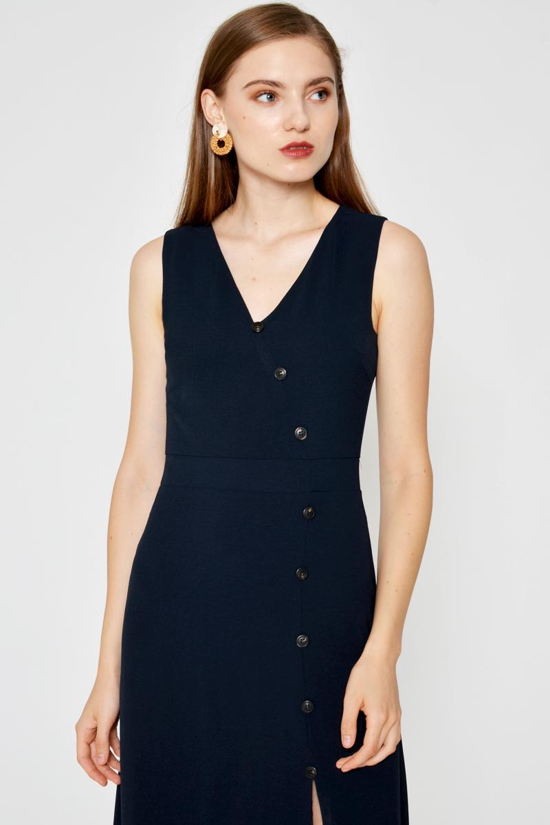 ELIZA BUTTONDOWN SLIT DRESS