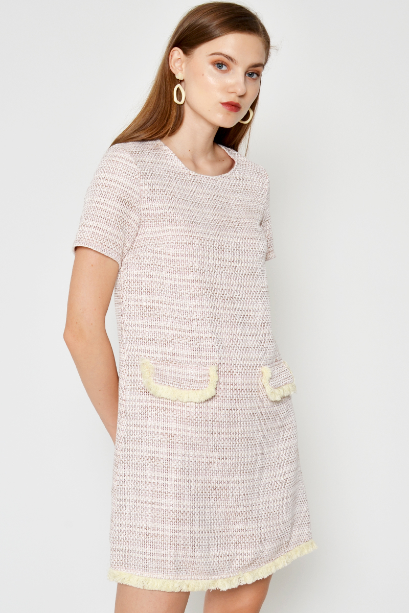 EMILIA TWEED SHIFT DRESS