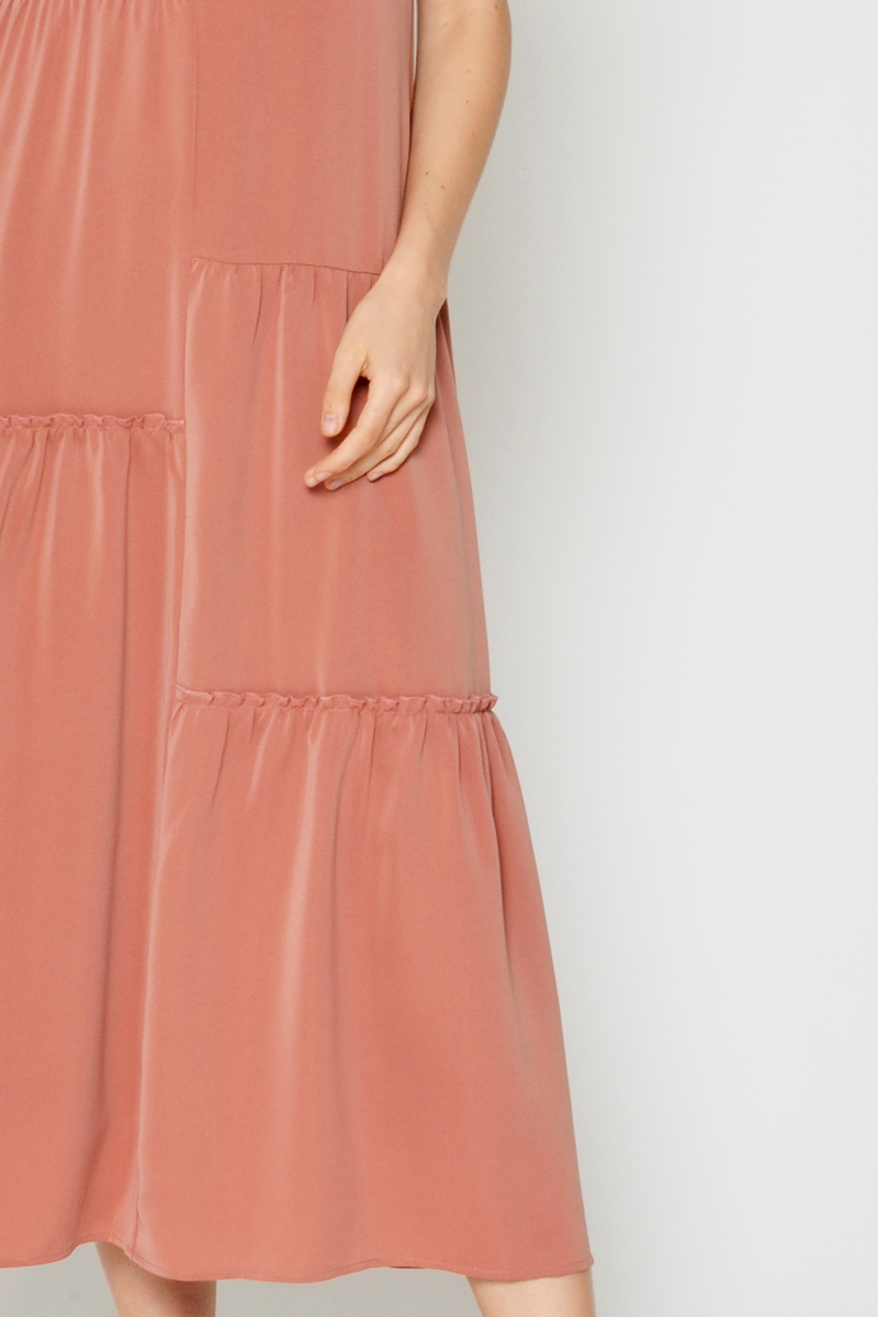 SABINA RUCHED MAXI DRESS