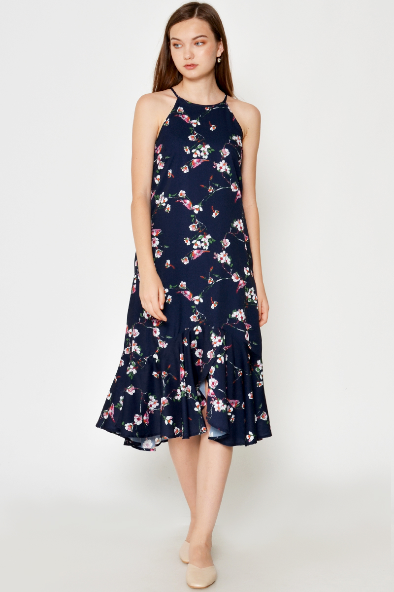 VIKITA FLORAL DROPWAIST DRESS