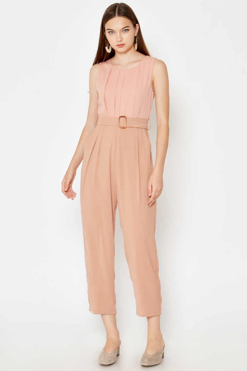 BLYTHE COLOURBLOCK JUMPSUIT W BELT