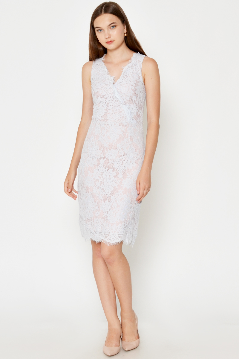 ELIORA LACE WRAP DRESS