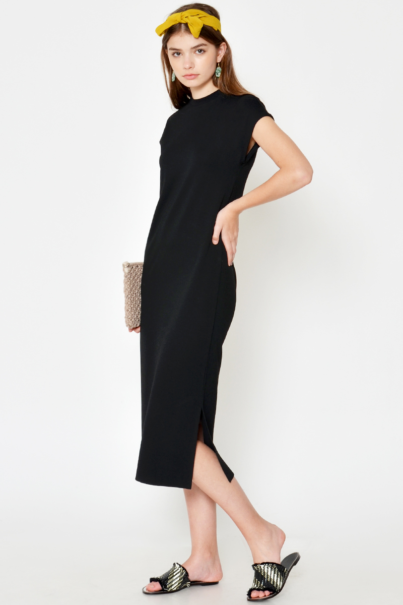 *BACKORDER 2* ZOANA HIGHNECK MIDI DRESS