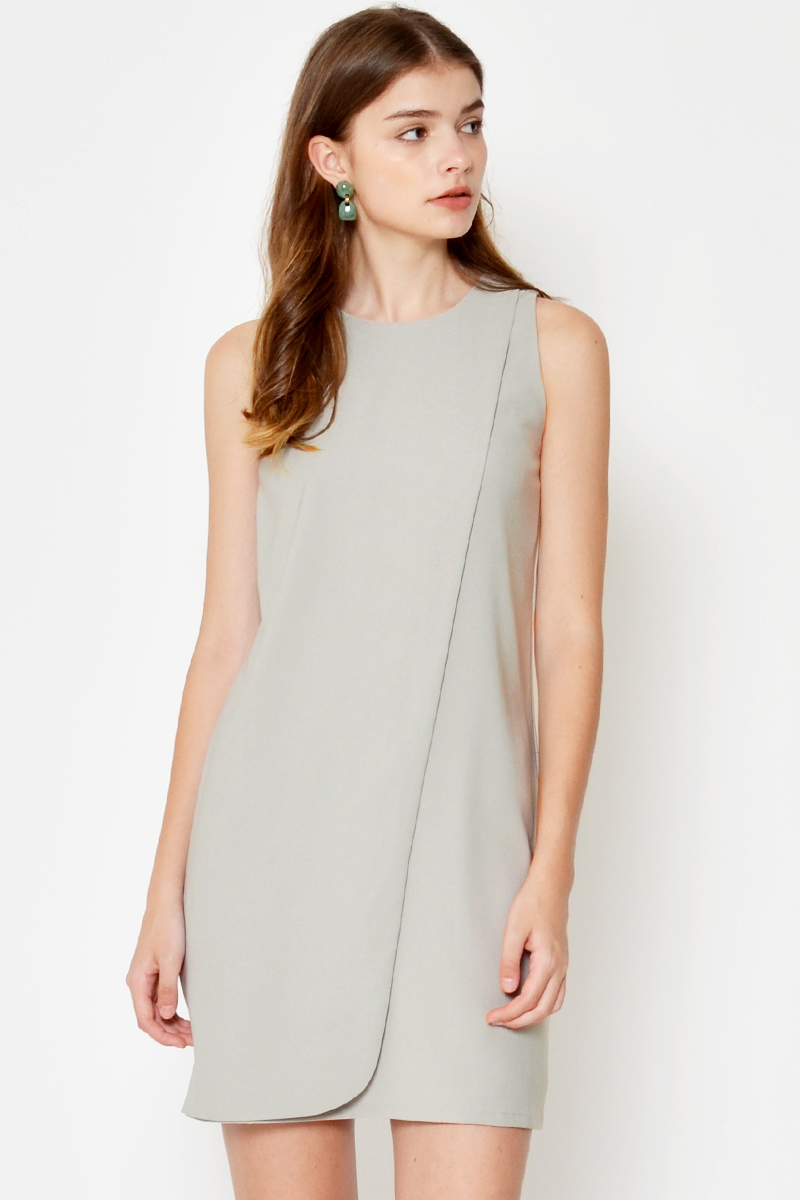 GALINA LAYERED SHIFT DRESS