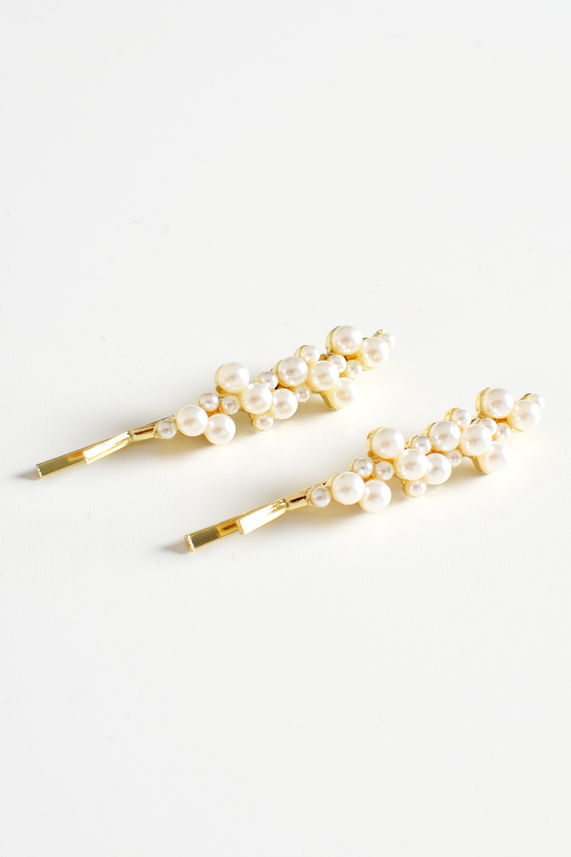 PEARL CLUSTER CLIPS (SET OF 2)