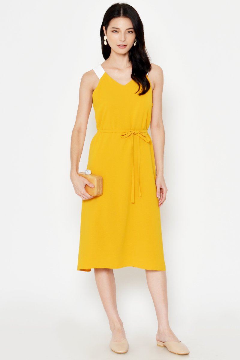 NERINA CONTRAST STRAP REVERSIBLE DRESS