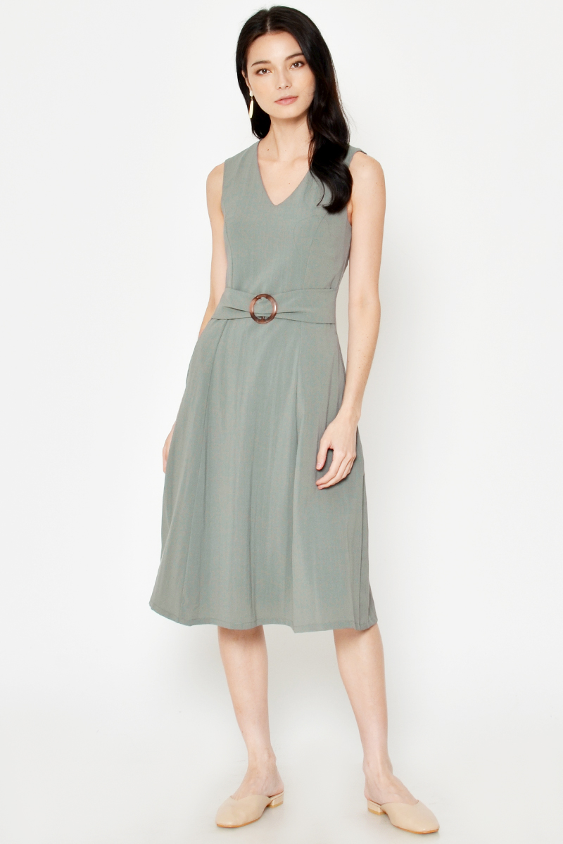 RYSON BELTED MIDI DRESS
