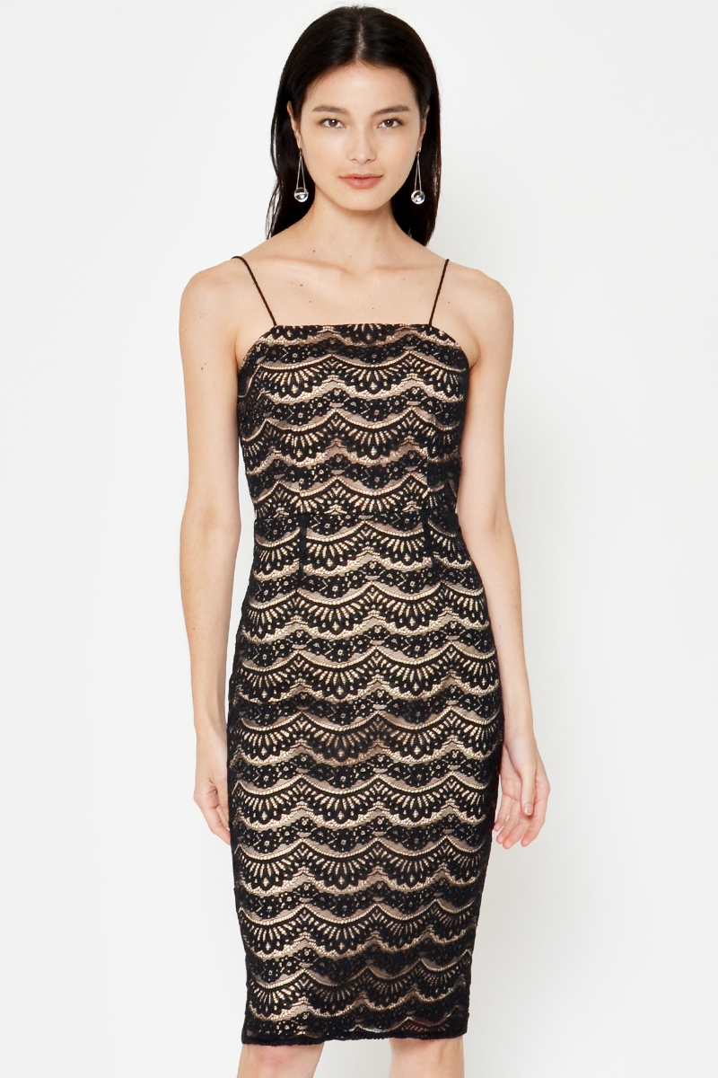 LENNA LACE MIDI DRESS