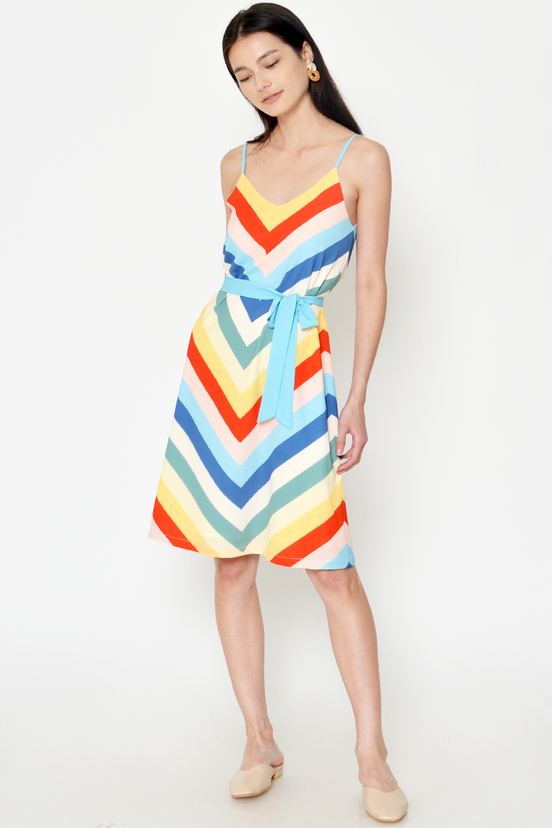 OLESIA RAINBOW DRESS W SASH