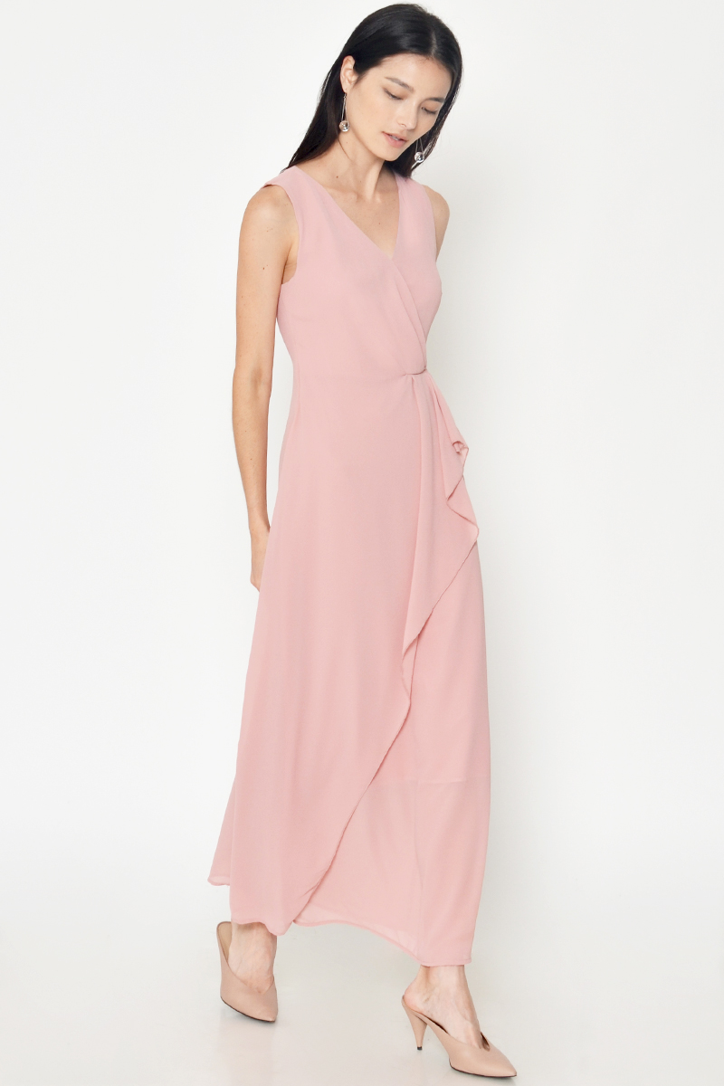 ROCHELLA WRAP MAXI DRESS