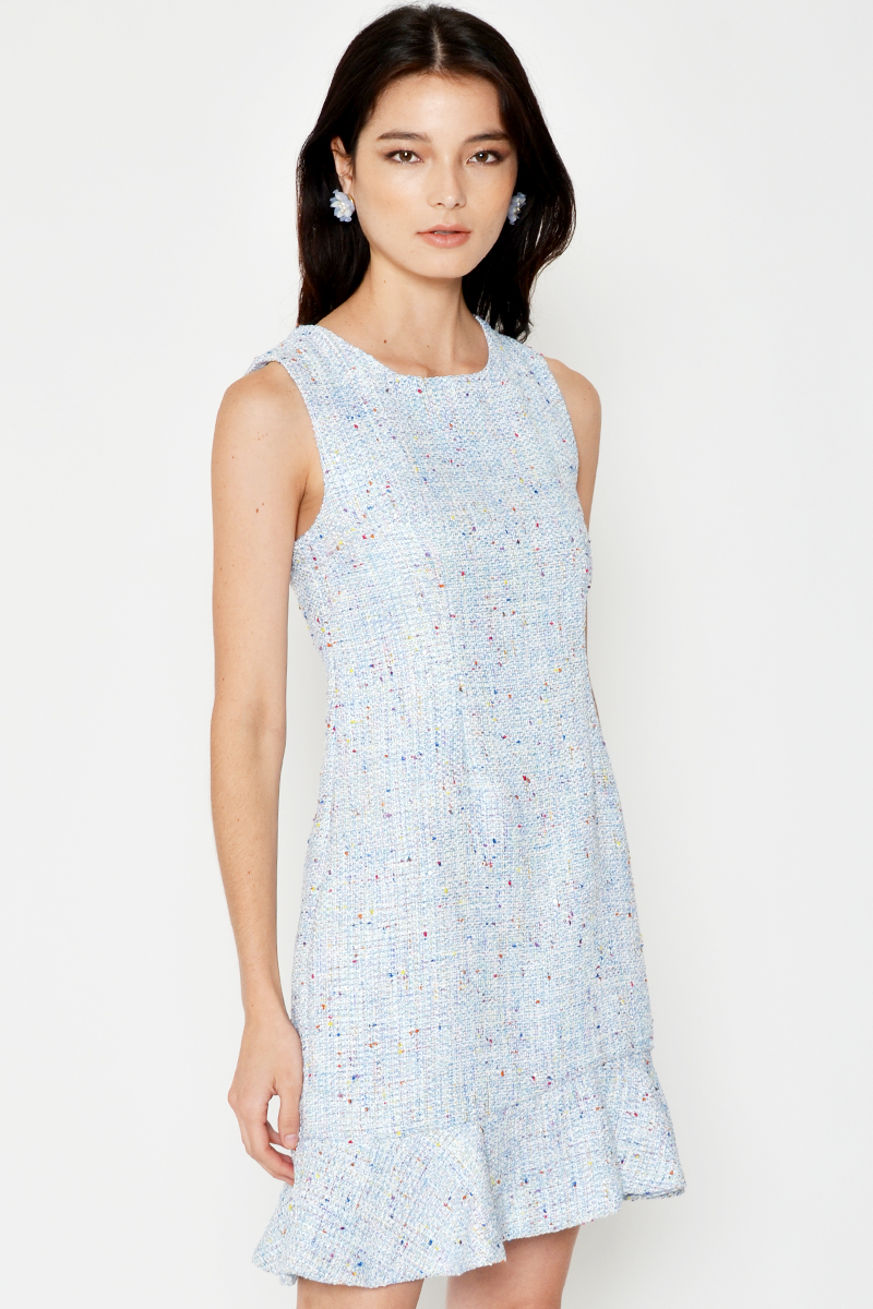 MONIQUE TWEED SHEATH DRESS