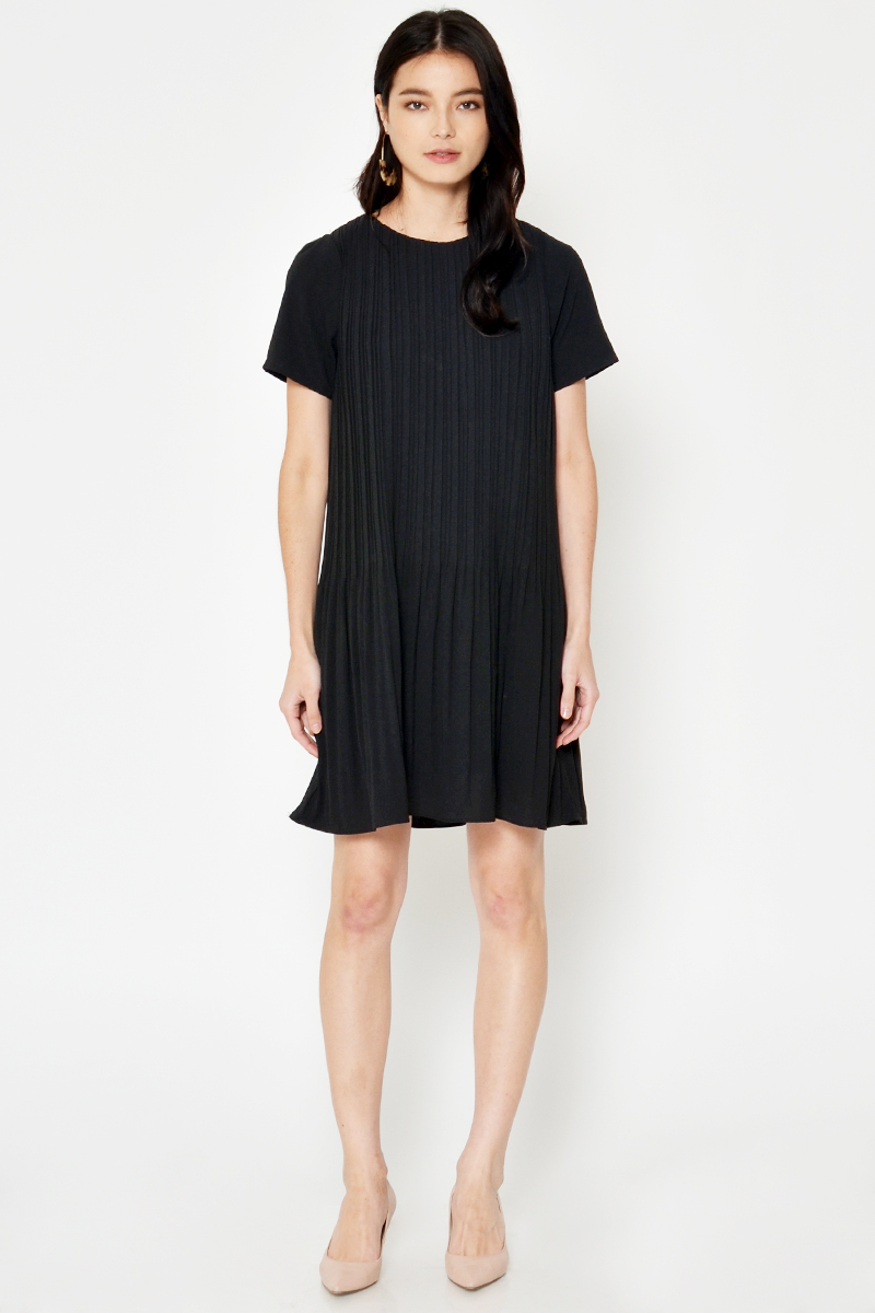 CRISSA PLEATED DRESS