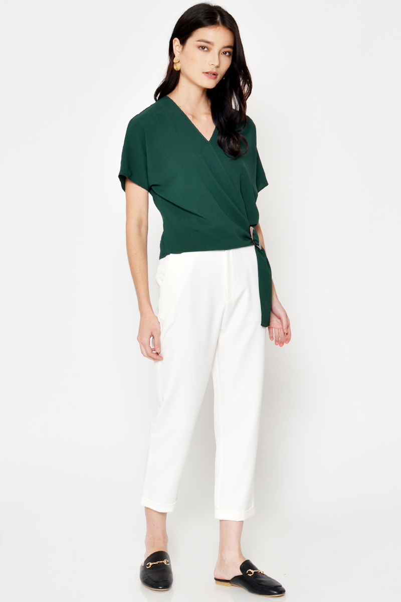 EVANY WRAP SIDE BUCKLE TOP