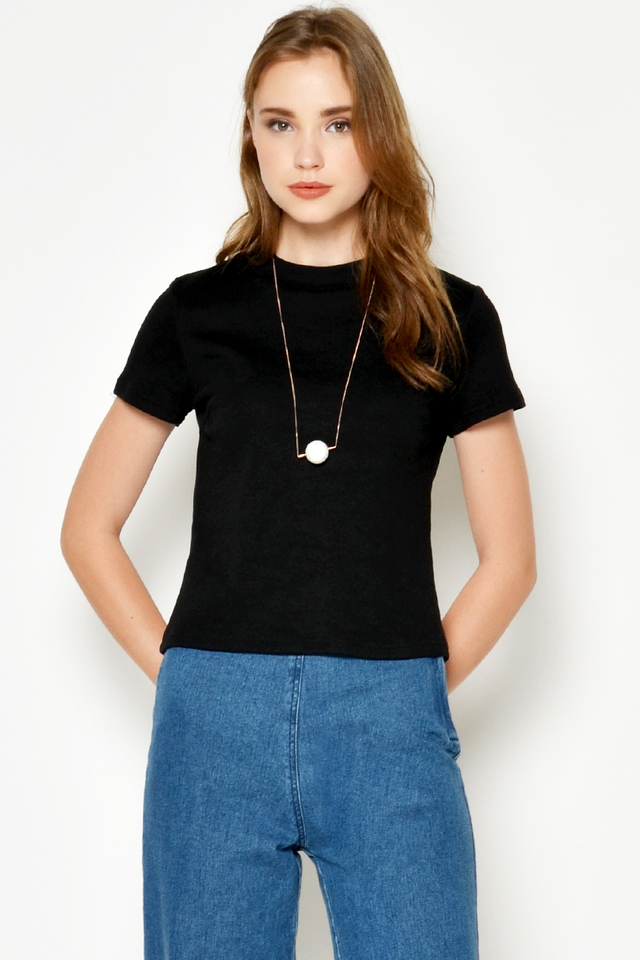 MIKAL BASIC RIBBED TEE