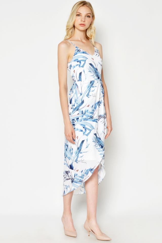 DANETTE FLORAL FOLDOVER DRESS
