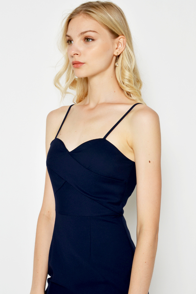 TELIA BUSTIER MIDI DRESS