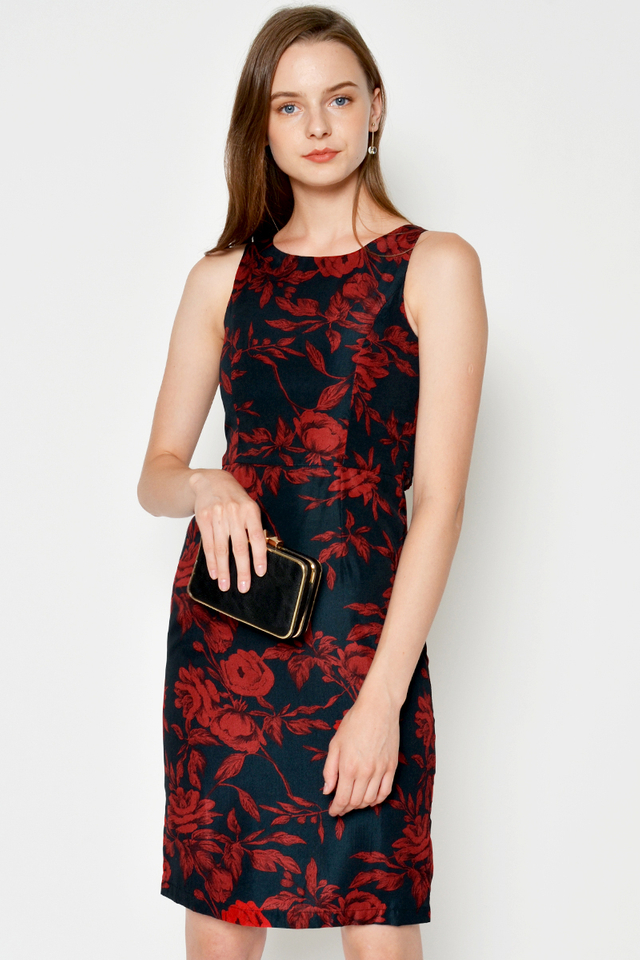 ANALI FLORAL SHEATH DRESS
