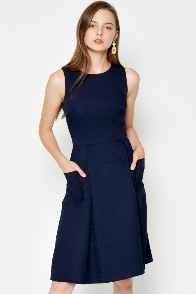 CATHERINE POCKET FLARE DRESS