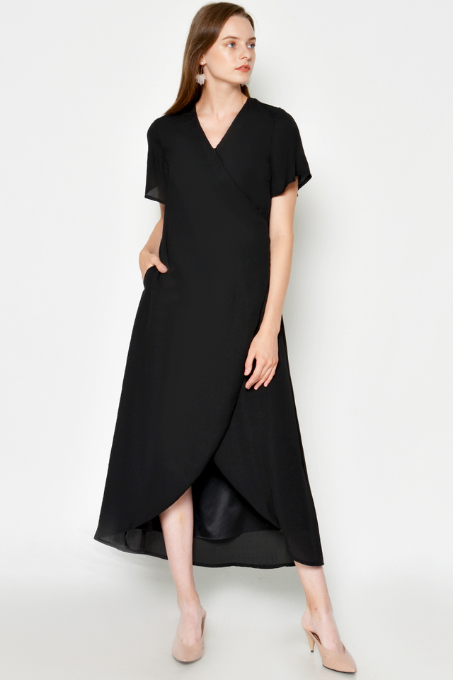 TRISTON WRAP MAXI DRESS