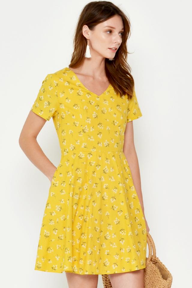 ALDEN FLORAL FLARE DRESS