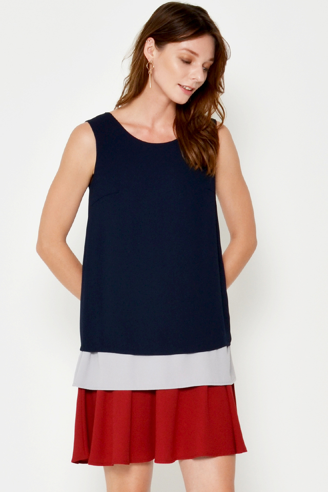 JOLISA COLOURBLOCK LAYERED DRESS