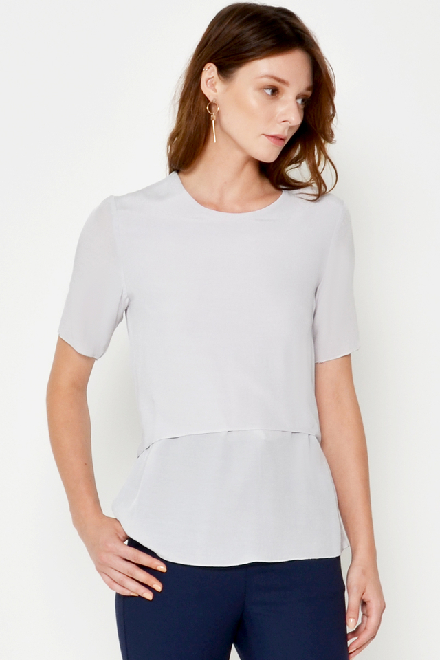 JONAS LAYERED TIEBACK TOP