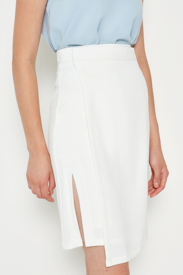 BEATRIZ FOLDOVER SLIT SKIRT